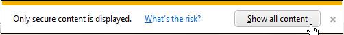 Internet Explorer 9 Security Warning