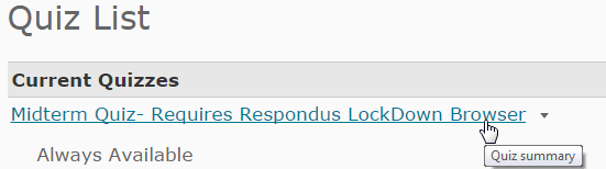 Respondus LockDown Browser link