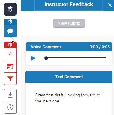The Instructor Feedback view in the Turnitin Feedback studio