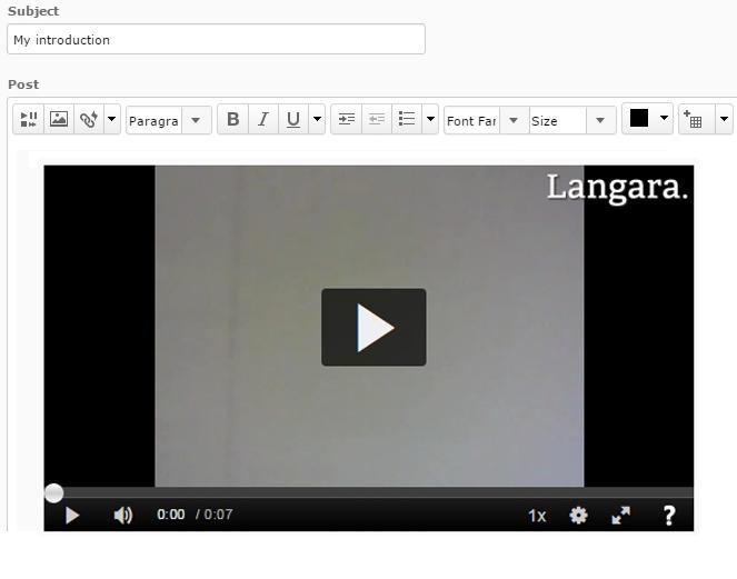 MediaSpace > Sharing Media in Brightspace > video in HTML Editor
