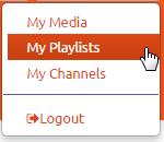 MediaSpace > User Menu > Playlists