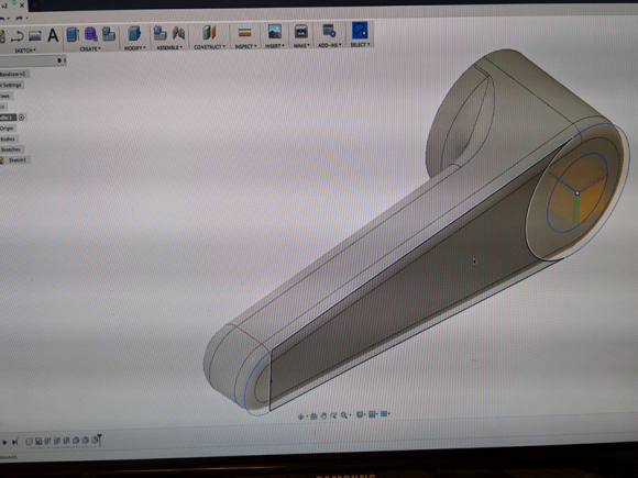 Building the handle in 3D