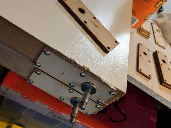 Closet door springs repaired