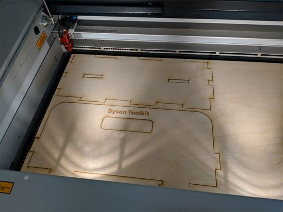 Laser cutting and etching the Baltic Birch plywood
