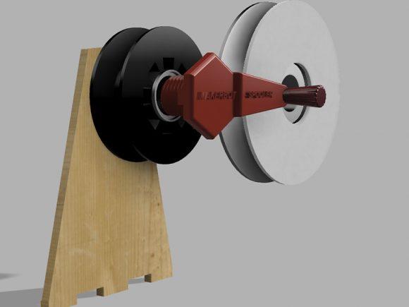 Spooler being designed in a 3D program