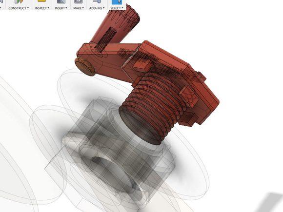 The crank in 3D program