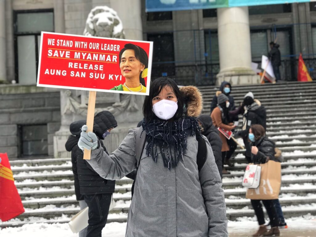My first experience of snow in my life started with a protest in Vancouver.