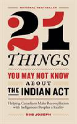 Link to the Book 21 Things You May Not Know About the Indian Act by Bob Joseph